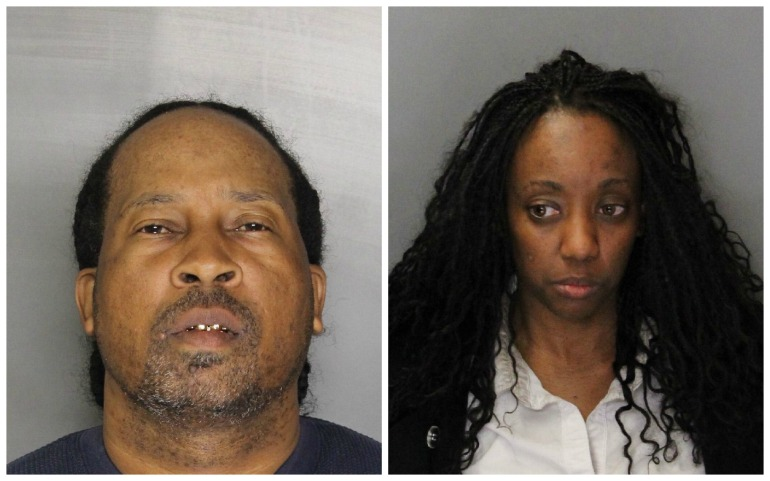 Booking photos of Gilbert Smith (left) and Shenita Barnes (Courtesy: Elk Grove Police Department)