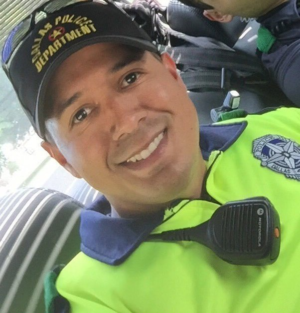 Dallas Police Officer Patrick Zamarripa was one of the five police officers killed in the ambush in Dallas, according to social media posts from family members and reports from local media outlets. He shown in a photo posted to Twitter by his stepbrother, @Dustin_Mfwood.