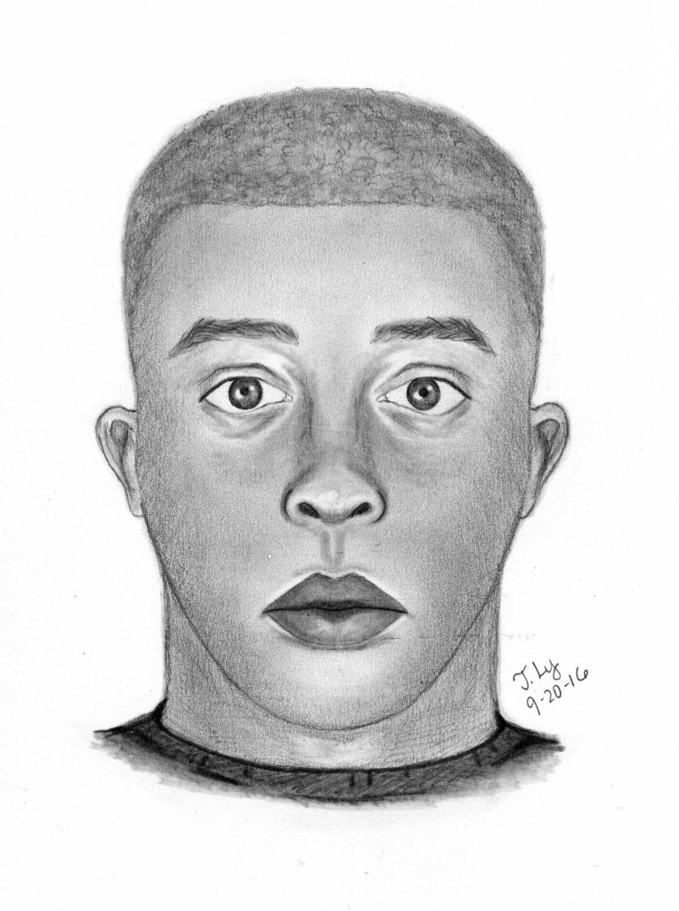 Suspect sketch provided by the Sacramento County Sheriff's Dept.