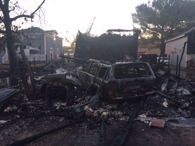 The aftermath of a three-alarm fire Friday morning in Lincoln.