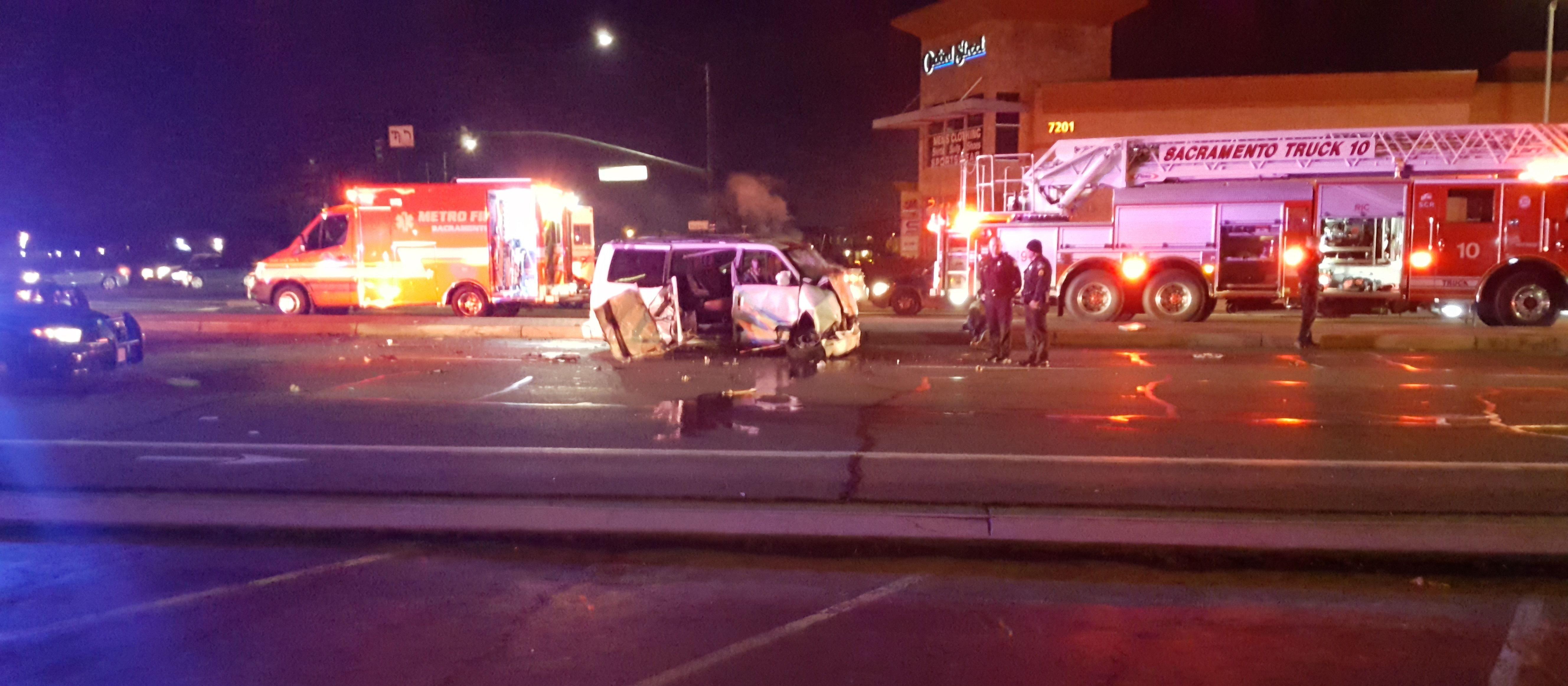 van-crash