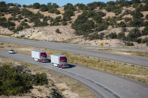 """Peloton, a start-up that partially automates tractor-trailers, is partnering with truck fleet management company Omnitracs on what's called """"platooning,"""" in which several trucks drive in close proximity to each other in a bid to leverage aerodynamics and save fuel."""