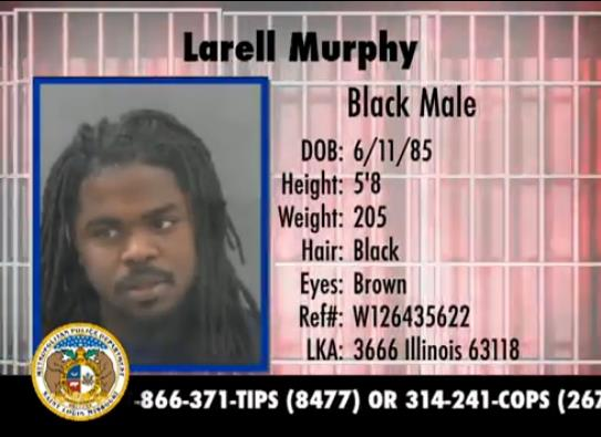 Larell Murphy, 28 years old, 5'8 205lbs.  Wanted for parole violation, burglary & stealing over $500