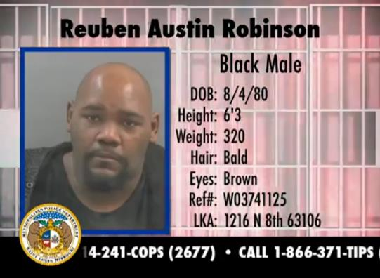 Reuben Robinson, 33 years old, 6'3 320lbs. Wanted for unlawful possession of a firearm.