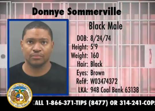 Donnye Sommerville, 38 years old, 5'9 160lbs. Wanted for failure to appear for a felony and non support (5 counts).