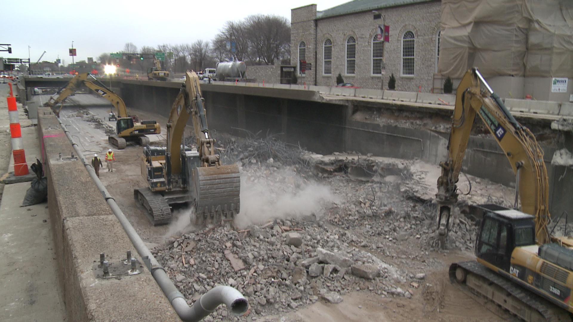 Walnut Bridge Demolition - 2014