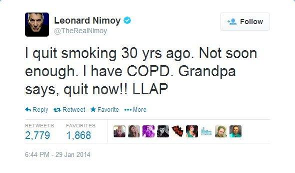 1/3 Leonard Nimoy COPD Diagnosis