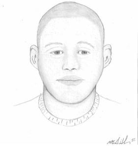 Artist rendering of  Belleville sexual assault suspect