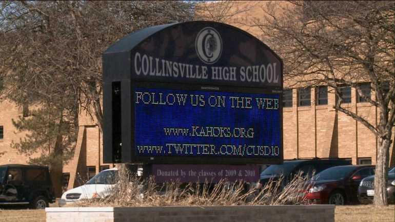 Collinsville High School Sign