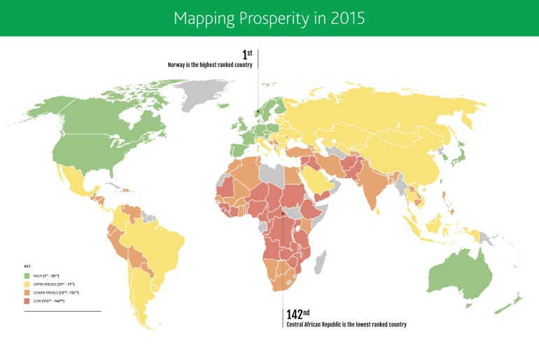 Mapping Prosperity - World Map 2015