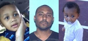 Blaze Crockett, 3, Diata Crockett, 35, and Ryker Crockett, 2