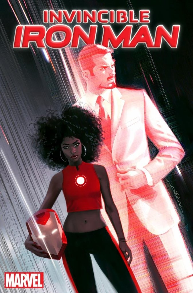 """A black female character is taking over the suit from Tony Stark, Time is reporting. Riri Williams """"is a science genius who enrolls in MIT at the age of 15"""" and """"comes to the attention of Tony when she builds her own Iron Man suit in her dorm,"""" according to the magazine."""