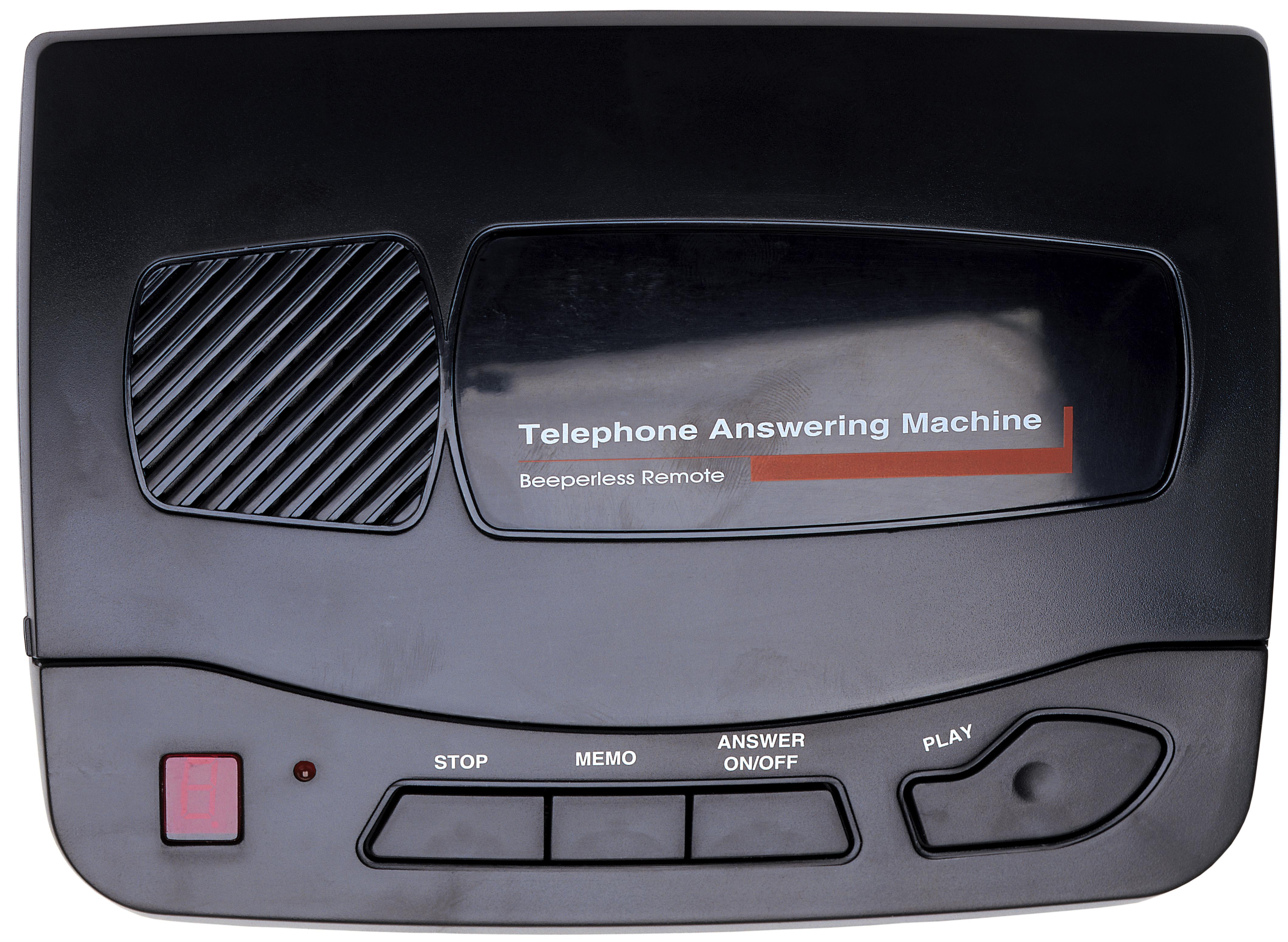 a telephone answering machine