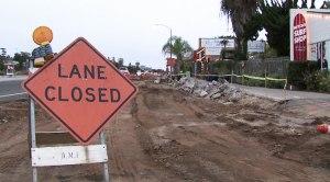 Solana Beach roadway construction