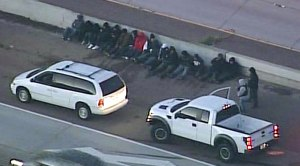 Suspected Smuggling Van Stopped on Interstate 5