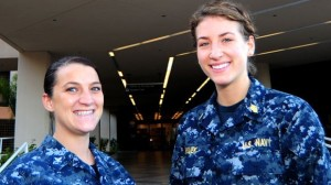 Ensign Janean Wujek and Stephanie Moor