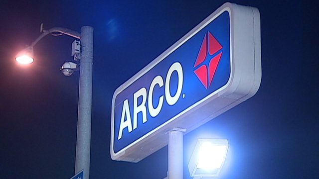 Acro Gas Station at night