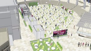 Rendering of the new Horton Plaza open space