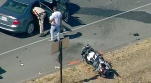 Motorcycle officer injured in crash near Ramona
