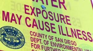 Sewage Spill Sign