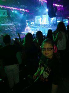 Marisa at the Justin Bieber concert