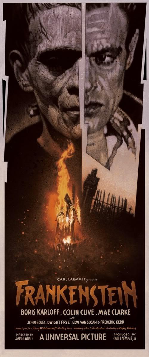 Drew FRANKENSTEIN mondo poster