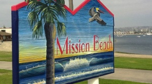 Mission Beach Sign