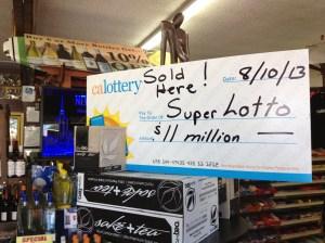 SuperLotto store winner