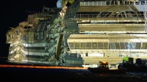 Costa Concordia righted after massive salvage effort