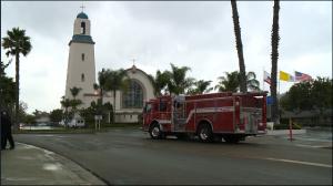 a church fire pic