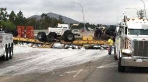 Overturned Big Rig on I-15