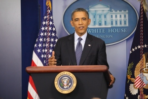 President Obama speaks about the Shutdown