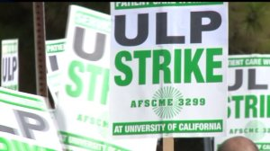 Striking UCSD medical workers protest unfair labor laws