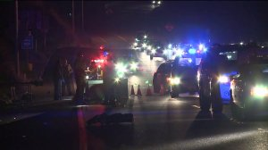 Vehicles Hit Man Standing On Highway