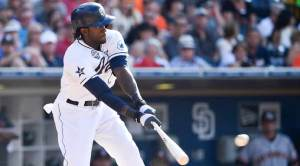 Padres outfielder Cameron Maybin