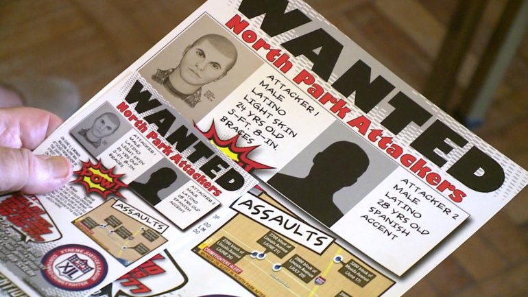 SDPD handed out wanted posters with the North Park assault suspect.