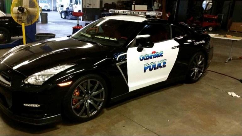 Oceanside police unveil new cruiser.
