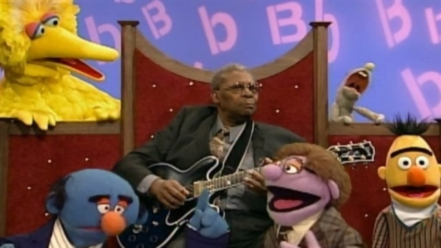 The two double-B's jamming: Big Bird and BB King.