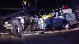 A 61-year-old driver died in a head-on crash with a Fiat on Carmel Valley Road.