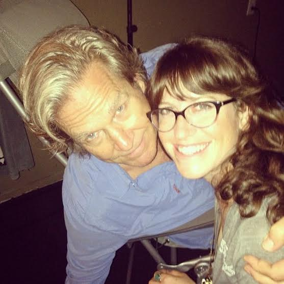 Actor Jeff Bridges with Belly Up employee Brittany Howell.