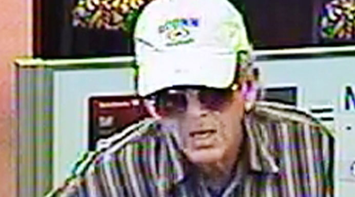FBI released surveillance picture of a man who robbed a Bank of America in Ramona.