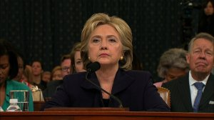 Hillary Clinton testifies at the Benghazi hearing on Capitol Hill.