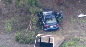 A sedan crashed into a tree on southbound SR-125.