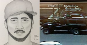 SDPD released composite sketch of arsonist and picture of vehicle he drove.