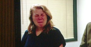 Hailey Jordan Suder was seen trying to hold tears back during an arraignment in the death of George Lowery.