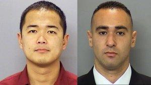 Officer Jonathan De Guzman (l) and Officer Wade Irwin (r)