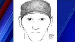 Sketch of man in the series of deadly homeless attacks. (San Diego Police)