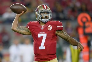 Quarterback Colin Kaepernick #7 of the San Francisco 49ers throws a pass against the Green Bay Packers in the first half of their preseason football game at Levi's Stadium on August 26, 2016 in Santa Clara, California. (Photo by Thearon W. Henderson/Getty Images)