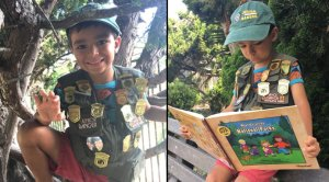San Diego boy celebrates National Park Service turning 100. (Debora Petersen)