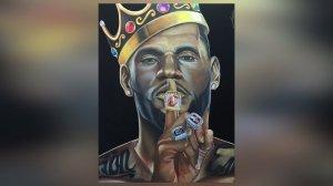 Pako Pablos painting of LeBron James